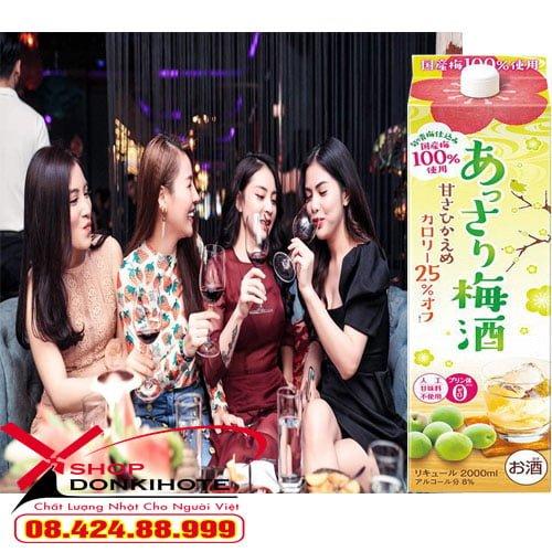 Rượu mơ choya Nhật Bản 1.8 lít hộp giấy tại Hà Nội