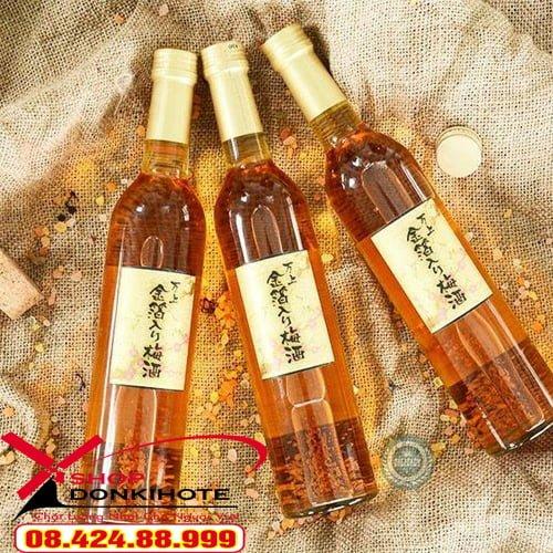 Rượu mơ Kikkoman vảy vàng 500ml Nhật Bản