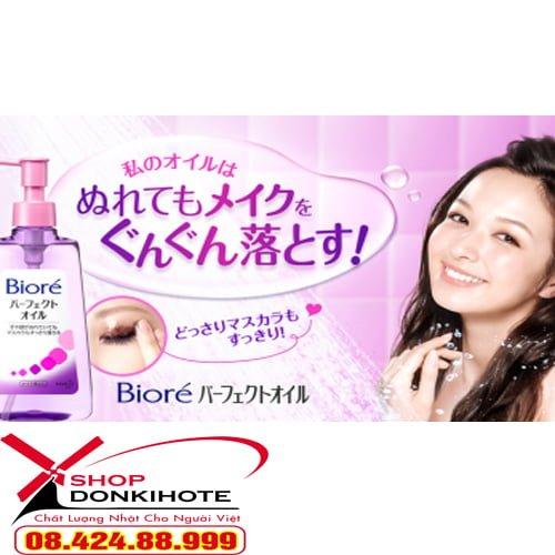 Sản phẩm dầu tẩy trang bình dân - ngon - bổ - rẻ cho phái nữ Biore