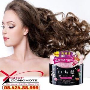 Dưỡng tóc bồng mềm với kem dưỡng tóc Ichikami Kracie Smoothing hộp đen