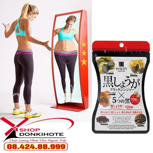 Viên uống giảm cân giảm béo SVelty Diet Nhật tại donkivn.com shop