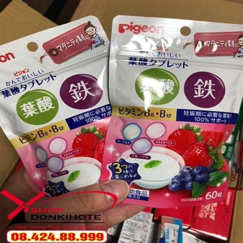 Gói vitamin vị dâu Pigeon Nhật Bản bổ sung dưỡng chất cho mẹ và bé suốt thai kỳ