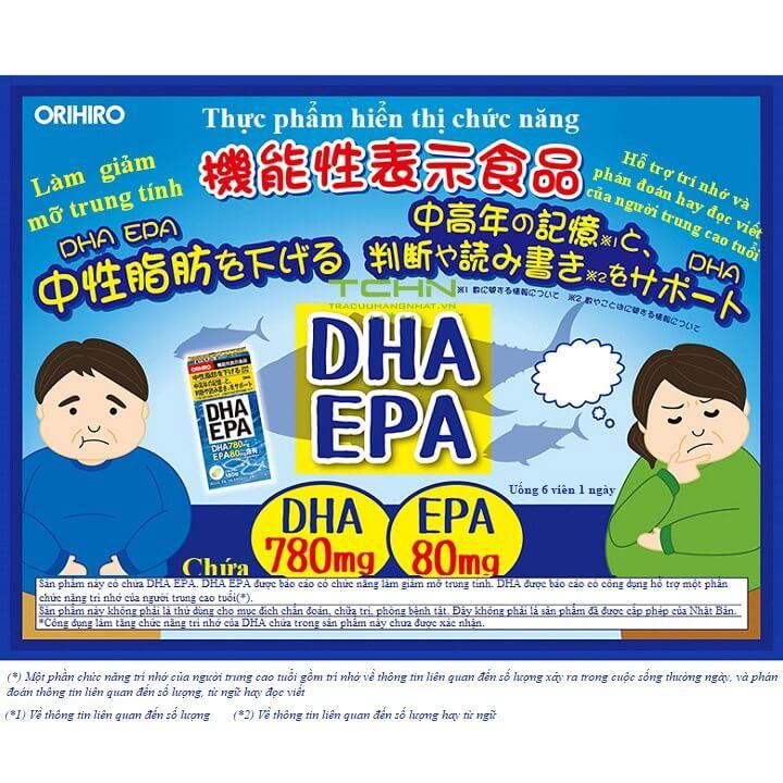 Viên bổ mắt EPA DHA Orihiro Nhật