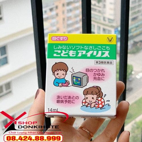 thuốc nhỏ mắt cho trẻ em bán chạy tại Nhật Bản