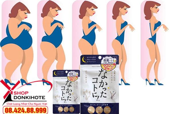 Giảm cân giảm béo enzyme ban ngày Nhật Bản