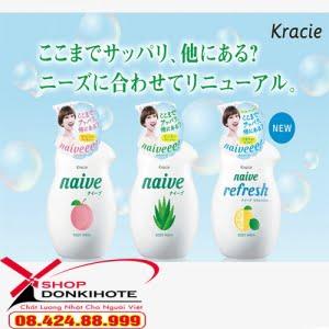 Các dòng sản phẩm sữa tắm của Kracie Naive 530ml