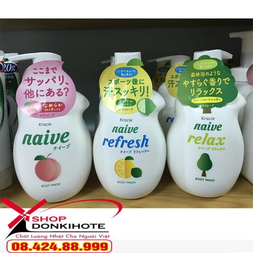 Sữa tắm Naive Kracie Nhật Bản tiết kiệm cho cả gia đình