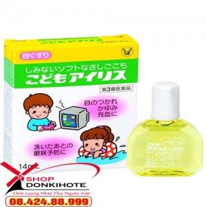 Thuốc nhỏ mắt cho trẻ em Kodomo Airisu 14ml Nhật Bản cho trẻ thường xuyên xem điện thoại