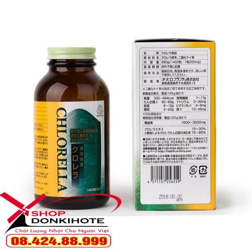 Sản phẩm tảo lục Chlorella giúp giải độc cơ thể, thanh lọc máu