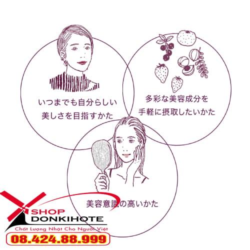 Công dụng làm đẹp của collagen shiseido enriched dạng viên mẫu mới tím