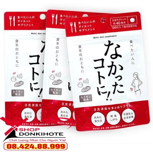 Ngăn ngừa béo bằng bằng Enzyme Nakatta Kotoni 120