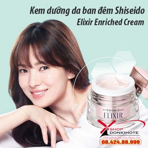Kem dưỡng da ban đêm Shiseido có tốt không