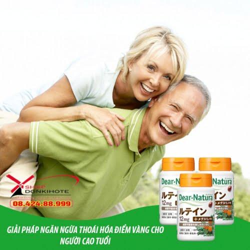 Thuốc dear natura lutein là một sản phẩm tốt cho sức khỏe người cao tuổi