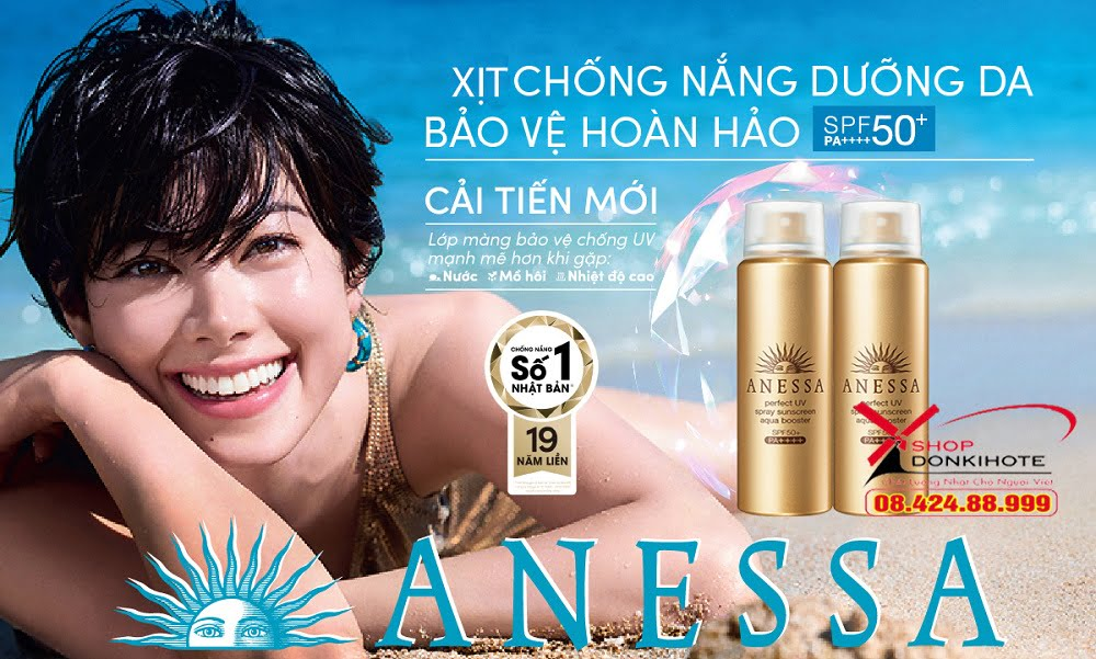 review xịt chống nắng Anessa