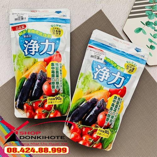 Bột rửa rau củ quả từ vỏ Sò Jyoriko Nhật Bản giá tốt tại Donkivn.com